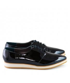 Pantofi Oxford Lac Negru D2 - orice culoare