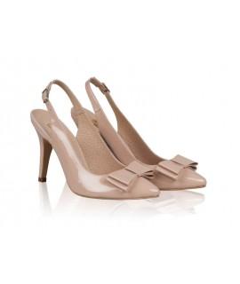 Pantofi Stiletto Decupat Lac Nude N42 - orice culoare