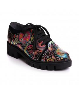 Pantofi Piele Color Talpa Bocanc V50  - orice culoare