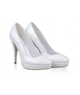 Pantofi mireasa N28 Pure White - orice culoare