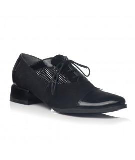 Pantofi Oxford Office piele buline negru V19 - orice culoare