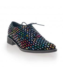 Pantofi Oxford Multicolor Negru V8 - Orice culoare