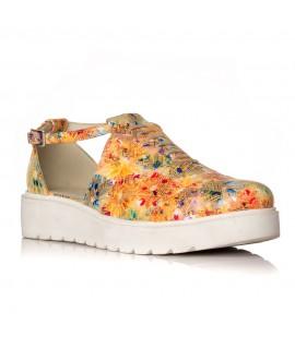 Pantofi piele Flower Oxford Decupat V21 - orice culoare