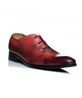 Pantofi piele rosu barbati C9