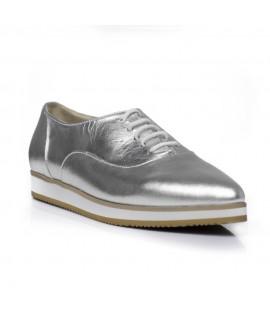 Pantofi piele Oxford Varf Ascutit Argintiu C1  - orice culoare