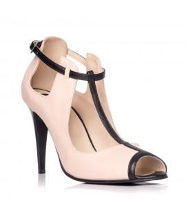 Sandale dama piele tip gheata Nude S3 - Orice culoare