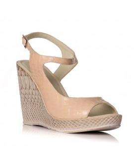 Sandale cu platforma piele nude Hannah - orice culoare