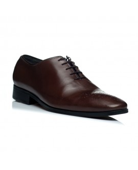 Pantofi piele maro barbati C18