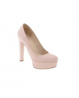 Pantofi Clara Nude Rose  Piele Lacuita- pe stoc